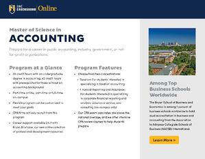 Online master's in accounting ebrochure