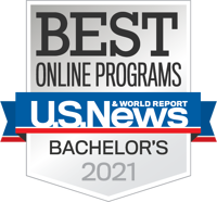 U.S. News and World Report Best Online Bachelor's 2021 Badge
