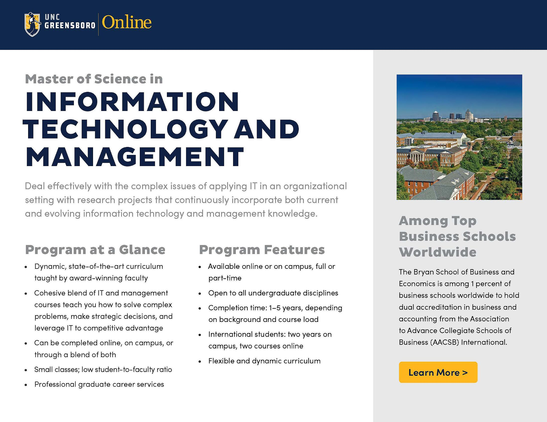 Technology Management Image: Master Of Science In Information Technology & Management