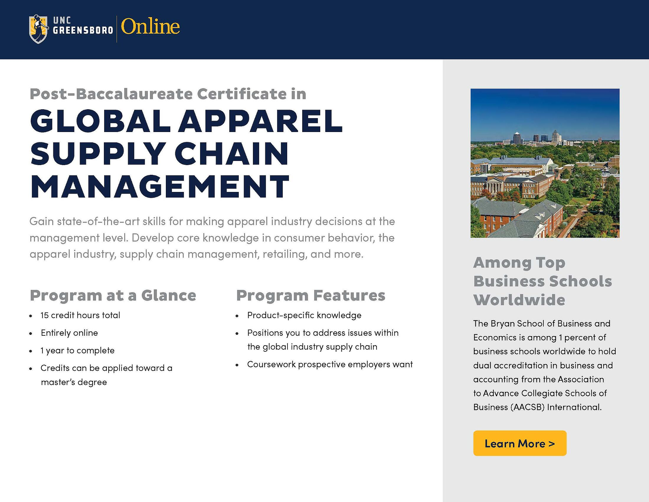 Certificate Programs Online Supply Chain Management Certificate